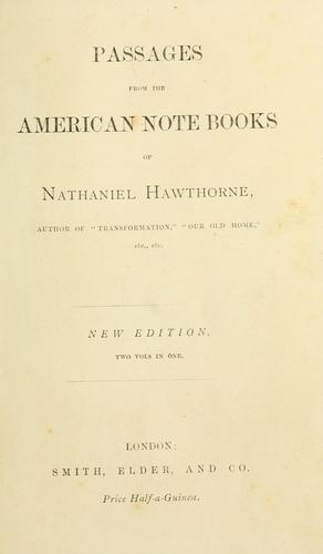 Download Passages from the American note-books.
