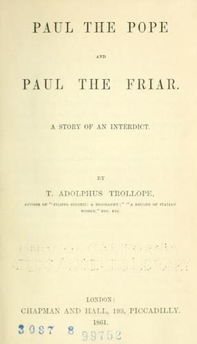 Download Paul the pope and Paul the friar