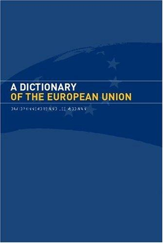 Download A dictionary of the European Union