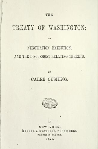 The Treaty of Washington