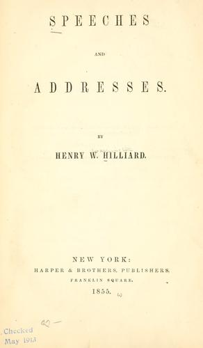 Download Speeches and addresses 1839-1854