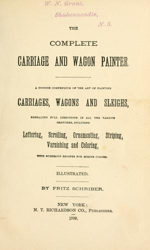 Download The complete carriage and wagon painter