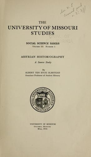 Download Assyrian historiography