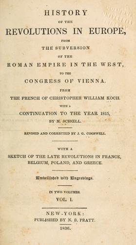 Download History of the revolutions in Europe