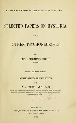 Download Selected papers on hysteria and other psychoneuroses