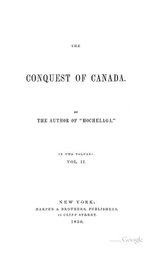 The conquest of Canada.