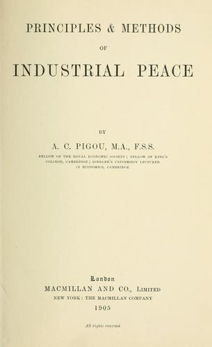 Download Principles & methods of industrial peace