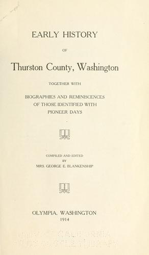 Download Early history of Thurston County, Washington