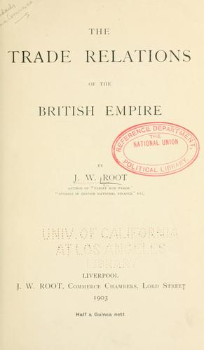Download The trade relations of the British empire