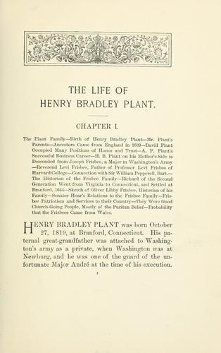 The life of Henry Bradley Plant by G. Hutchinson Smyth