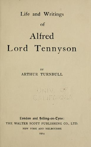 Download Life and writings of Alfred, Lord Tennyson