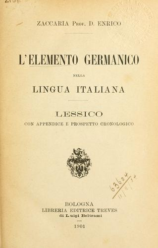 Download L' elemento germanico nella lingua italiana