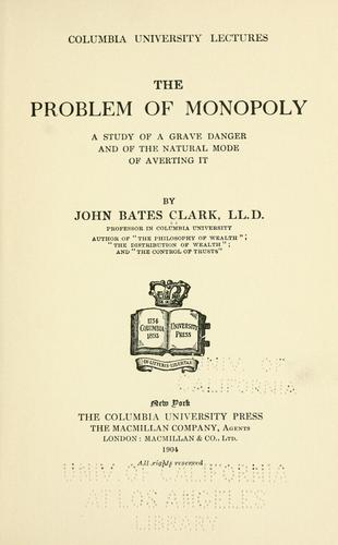 Download The problem of monopoly