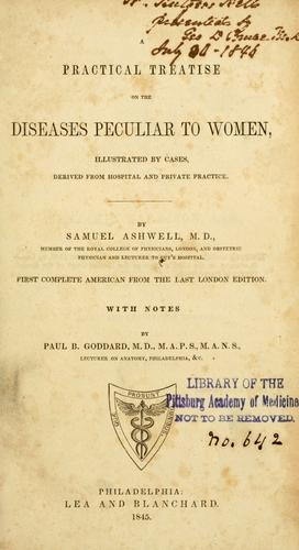 Download A practical treatise on the diseases peculiar to women
