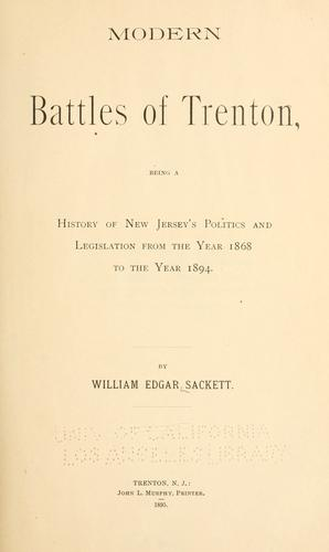 Modern battles of Trenton …