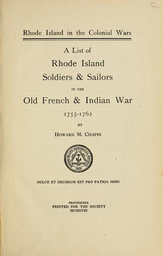 Download Rhode Island in the colonial wars