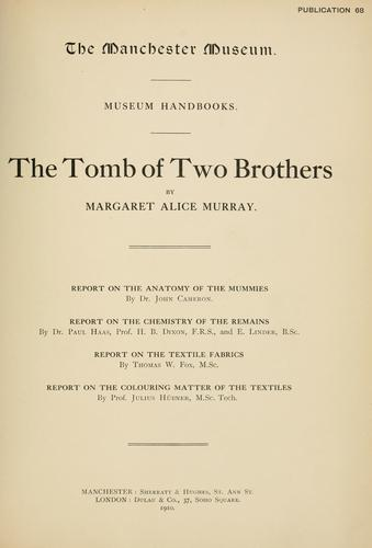 Download The tomb of two brothers