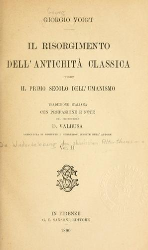 Download Il Risorgimento dell'antichità classica