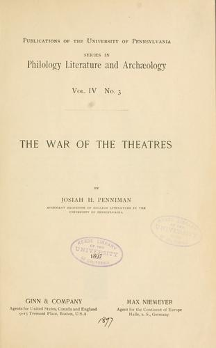 Download The war of the theatres