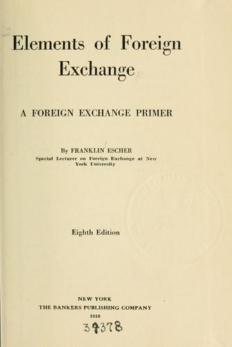 Download Elements of foreign exchange