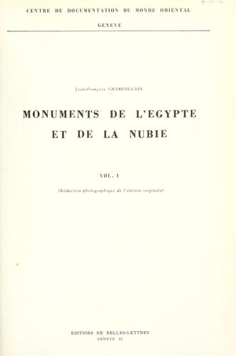 Download Monuments de l'Égypte et de la Nubie