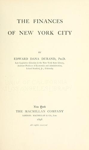 Download The finances of New York City