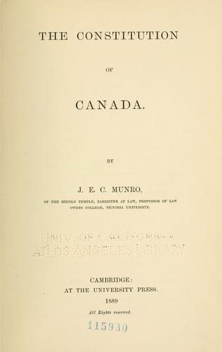 Download The constitution of Canada.