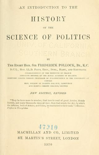 Download An introduction to the history of the science of politics