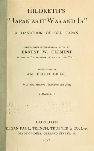"""Download Hildreth's """"Japan as it was and is"""""""