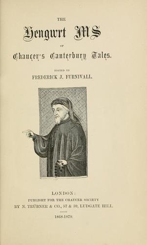 Download The Hengwrt ms of Chaucer's Canterbury tales.