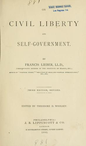 Download On civil liberty and self-government