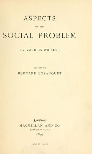 Download Aspects of the social problem