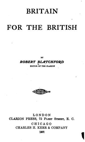 Download Britain for the British