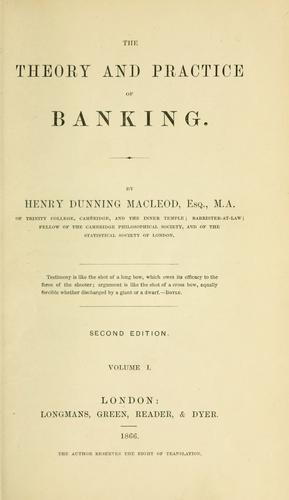 Download The theory and practice of banking.