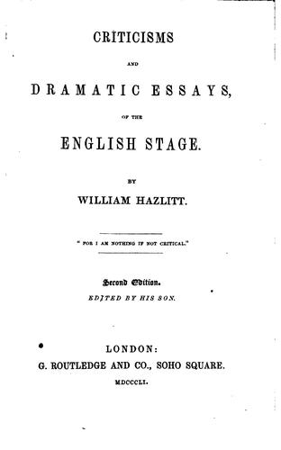 Download Criticisms and dramatic essays, of the English stage.
