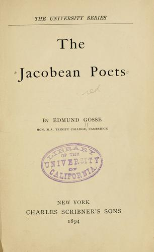 The Jacobean poets.