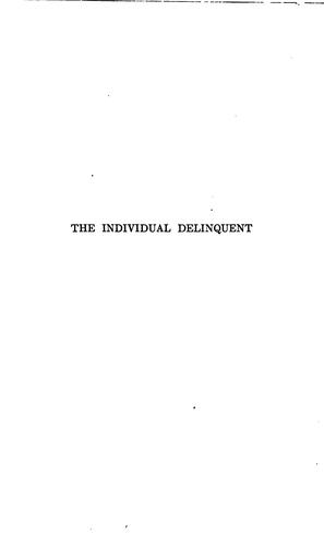 Download The individual delinquent