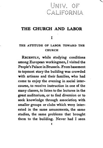 Download The church and labor