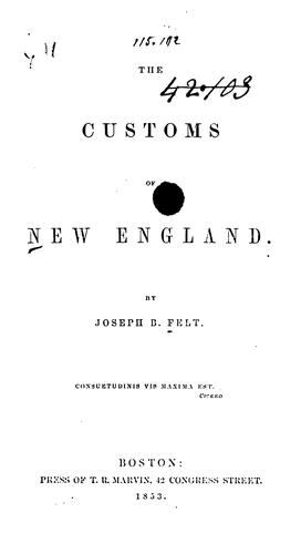 Download The customs of New England