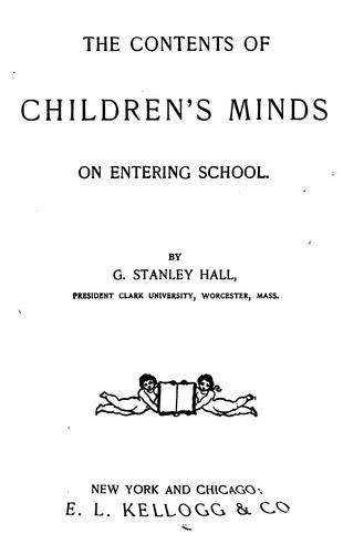 Download The contents of children's minds on entering school
