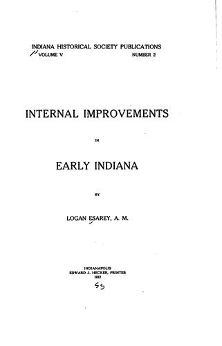Download Internal improvements in early Indiana