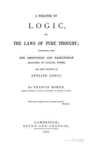 Download A treatise on logic