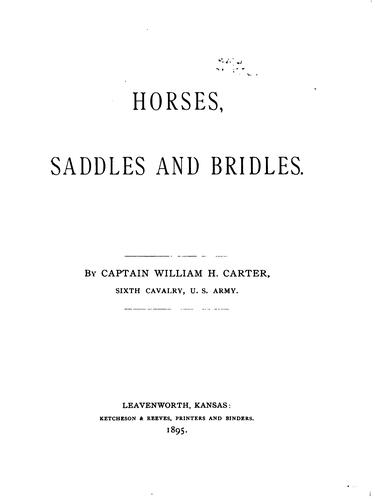 Download Horses, saddles and bridles