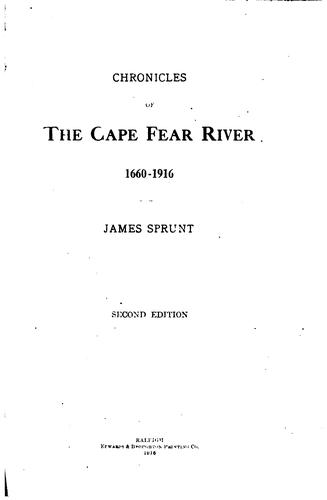 Download Chronicles of the Cape Fear river, 1660-1916
