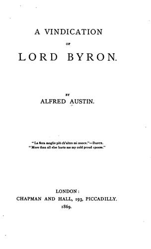 Download A vindication of Lord Byron