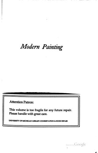 Download Modern painting, its tendency and meaning
