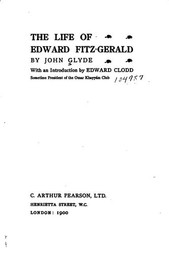 Download The life of Edward Fitz-Gerald