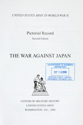 Download The war against Japan