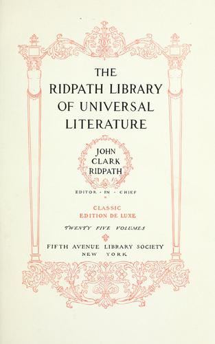 Download The Ridpath library of universal literature