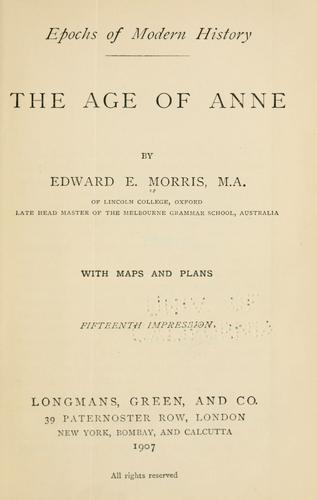 The age of Anne.